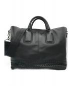 BOTTEGA VENETA(ボッテガヴェネタ)の古着「2wayレザートートバッグ」|ブラック