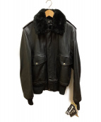 Schott(ショット)の古着「レザーボンバージャケット」|ブラック