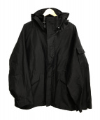 COMOLI(コモリ)の古着「コットンシルクミリタリーパーカー」|ブラック