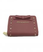 JILL BY JILLSTUART(ジルバイジルスチュアート)の古着「2つ折り財布」|ピンク×ゴールド