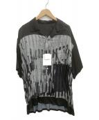FLAGSTUFF(フラッグスタッフ)の古着「シャツ」|グレー×ブラック