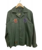 glamb(グラム)の古着「オープンカラーシャツ」 グリーン