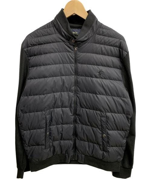 POLO RALPH LAUREN(ポロラルフローレン)POLO RALPH LAUREN (ポロラルフローレン) FZジャケット ブラック サイズ:Mサイズ ダウンの古着・服飾アイテム