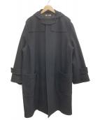 AURALEE(オーラリー)の古着「ウールシルクメルトダッフルコート」|ブラック