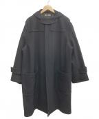 AURALEE()の古着「ウールシルクメルトダッフルコート」|ブラック