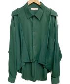 ETHOSENS(エトセンス)の古着「フェイクレイヤードシャツ」|グリーン