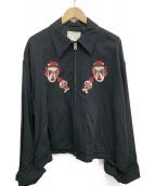 NEON SIGN(ネオンサイン)の古着「スーベニアジャケット」 ブラック