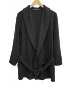 HARRIS WHARF LONDON(ハリスワーフロンドン)の古着「フリースロングガウンコート」|ブラック