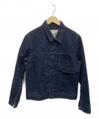 BURGUS PLUS(バーガスプラス)の古着「ヘビーダックジャケット」 インディゴ