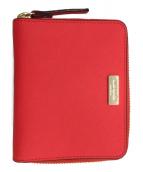 Kate Spade(ケイトスペード)の古着「ラウンドファスナー財布」|レッド