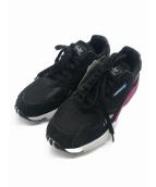 adidas(アディダス)の古着「ランニングシューズ」 ブラック×パープル