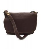 土屋鞄(ツチヤカバン)の古着「トーンオイルヌメショルダーバッグ」|ダークブラウン
