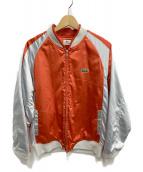 LACOSTE(ラコステ)の古着「スタジャン」|オレンジ