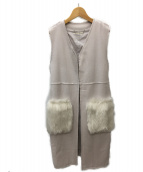 Mila Owen(ミラオーウェン)の古着「エコファーポケット付ベスト」|ピンク
