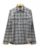 Denham(デンハム)の古着「チェックシャツ」|グレー