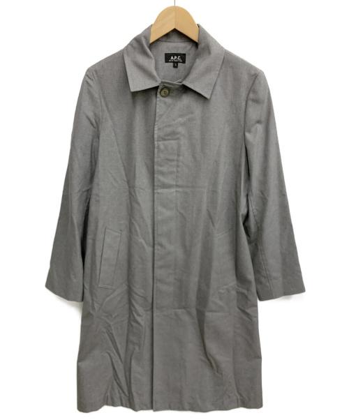 A.P.C.(アーペーセー)A.P.C. (アーペーセー) ステンカラーコート グレー サイズ:Sの古着・服飾アイテム