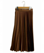 EMMEL REFINES(エメル リファインズ)の古着「FC HWプリーツスカート」|ブラウン