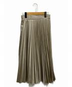 EMMEL REFINES(エメル リファインズ)の古着「FC HWプリーツスカート」|グレー