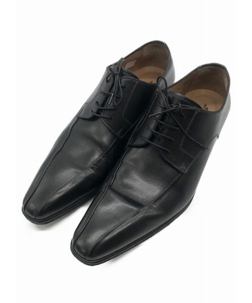 Santoni(サントーニ)Santoni (サントーニ) ビジネスシューズ ブラック サイズ:7 1/2の古着・服飾アイテム