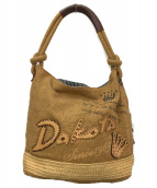 Dakota(ダコタ)の古着「ラフィアワンショルダーバッグ」 ブラウン