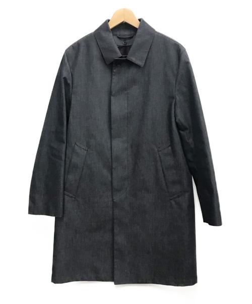 MACKINTOSH PHILOSOPHY(マッキントッシュフィロソフィー)MACKINTOSH PHILOSOPHY (マッキントッシュフィロソフィー) コットンボンディング ステンカラーコート グレー サイズ:38の古着・服飾アイテム