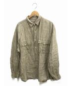 Porter Classic(ポータークラシック)の古着「ROLL UP LINEN SHIRT」 グレー