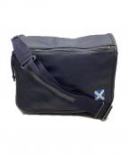 LUGGAGE LABEL(ラゲッジ レーベル)の古着「フラップショルダーバッグ」|ネイビー