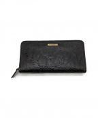 KATHARINE HAMNETT(キャサリンハムネット)の古着「長財布」 ブラック