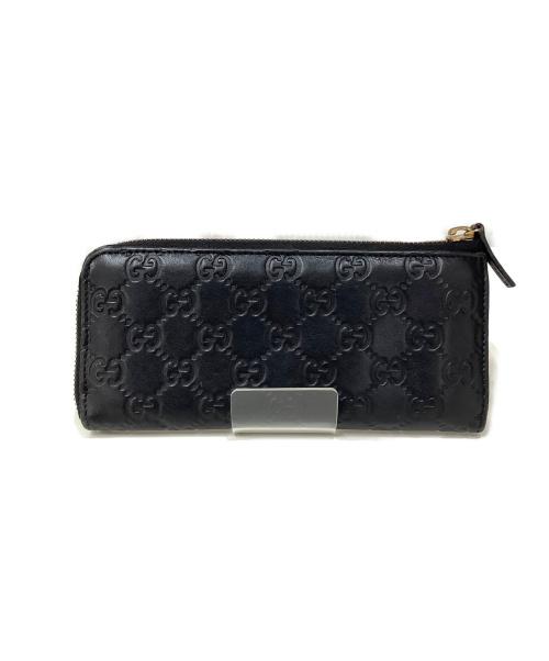GUCCI(グッチ)GUCCI (グッチ) ラウンドファスナー 長財布 ブラック 268917 4276の古着・服飾アイテム