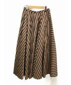 martinique(マルティニーク)の古着「デザインロングスカート」|ブラウン×ブラック