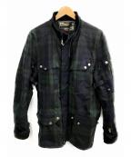 RLX RALPH LAUREN(アールエルエックスラルフローレン)の古着「オイルドジャケット」|ネイビー×グリーン