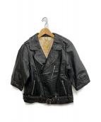 MUVEIL(ミュベール)の古着「ホースレザージャケット」 ブラック