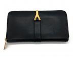 Saint Laurent Paris(サンローランパリ)の古着「ラウンドファスナー長財布」|ブラック
