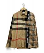 BURBERRY LONDON(バーバリーロンドン)の古着「長袖シャツ」|ブラウン