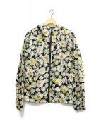 BURBERRY LONDON(バーバリーロンドン)の古着「フラワープリントフーデッドジャケット」|ベージュ×グリーン