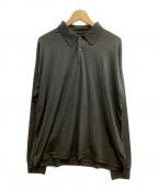 DESCENTE(デサント)の古着「長袖ポロシャツ」 グレー