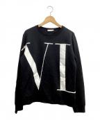 VALENTINO(ヴァレンティノ)の古着「VLTNスウェットシャツ」 ブラック