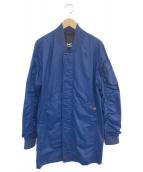 Denham(デンハム)の古着「MA-1タイプレインコート」|ブルー