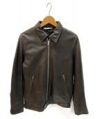 SHIPS(シップス)の古着「シングルライダースジャケット」|ダークブラウン