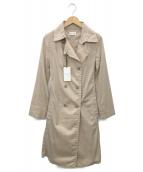 PLST(プラステ)の古着「ナイロンストレッチブロードトレンチコート」|ベージュ