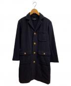 tricot COMME des GARCONS(トリココムデギャルソン)の古着「金釦ウールシングルコート」 ブラック