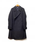 ms braque(エムズ ブラック)の古着「ダブルブレストフックコート」 ネイビー