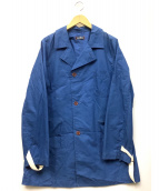 CASH CA(カシュカ)の古着「ショップコート」 ブルー