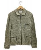 ISSEY MIYAKE(イッセイミヤケ)の古着「ジップアップジャケット」|オリーブ