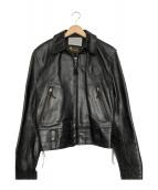 Aero LEATHER(エアロレザ)の古着「パトロールマンジャケット」|ブラック