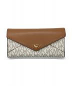 MICHAEL KORS(マイケルコース)の古着「長財布」|ホワイト×ブラウン