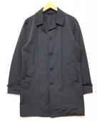 ASPESI(アスペジ)の古着「ポリコットンステンカラーコート」|ネイビー
