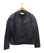 COACH(コーチ)の古着「シングルライダースジャケット」|ブラック