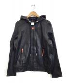 DIESEL(ディーゼル)の古着「ラムレザージャケット」|ブラック