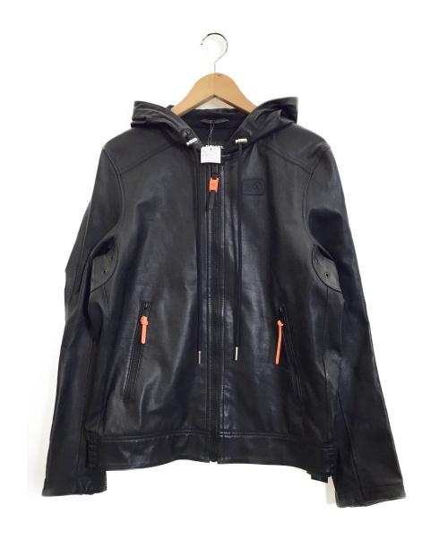 DIESEL(ディーゼル)DIESEL (ディーゼル) ラムレザージャケット ブラック サイズ:Mの古着・服飾アイテム
